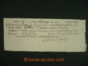 108684 - 1790 AUSTRIA  filed pre-printed due bill on/for 30Zl, Jewish