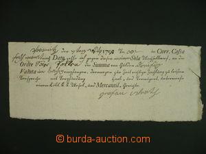 108684 - 1790 RAKOUSKO  vypsaná předtištěná směnka na 30Zl, židovský