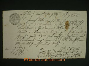 108686 - 1789 AUSTRIA  handwritten due bill on/for 18/6Zl, dated 1.3.