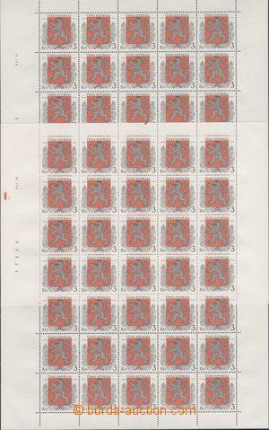 108788 - 1993 Pof.1/1+2, Znak, 2x celý arch s DV 3, 6, 16, 24/1 a 25,