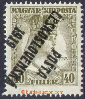 109278 -  Pof.122Pp, Zita 40f olive, inverted overprint, type I.; exp