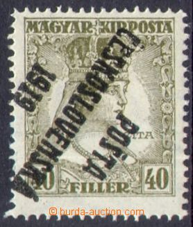 109279 -  Pof.122Pp, Zita 40f olive, inverted overprint, type III.; e