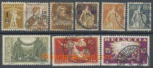 110000 - 1915-19 Mi.124-26, 127, 140-41, 146-48, sestava různých 9ks,