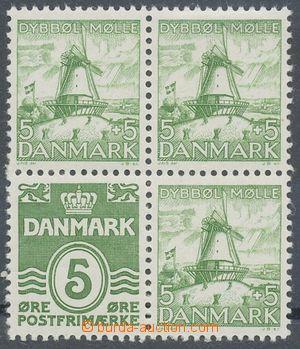 110003 - 1937 Mi.H-Blatt10 with stamp. Mi.198 Ib/234, block of four f