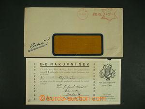 110294 - 1933 Brouk+Babka, nákupní cheque incl. envelope/-s, torn in