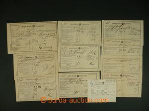 110300 - 1879-88 sestava 11ks podacích lístků, řádková razítka PRAG a