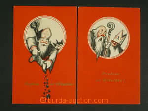 110336 - 1930 Nicholas and Old Nick, comp. 2 pcs of Ppc, red basis, U