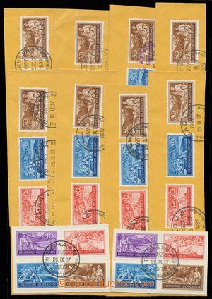 110395 - 1937 Mi.152-155, Pracovní příležitosti, 10 kompletních sérií