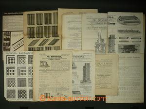 110426 - 1910-45 PRŮMYSL  sestava 15ks reklamních plakátů a ceníků fy