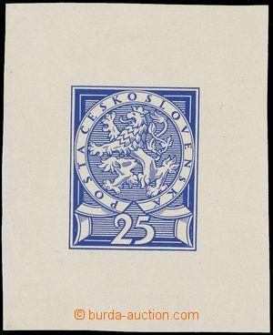110919 - 1920 ČSR I.  ZT kolku 25h, křídový papír, modrá barva, rozmě