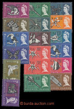 112772 - 1966 Mi.136-153Y, Přetisk, kat. SG £30