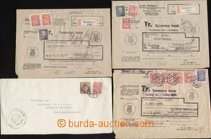 112959 - 1946-47 comp. 4 pcs of entires with mixed frankings official