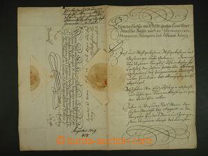 113036 - 1729 KAREL VI. (1685–1740), císař římský, císařský dopis s v