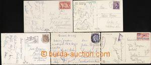 113101 - 1943-48 sestava 5ks pohlednic s podpisy sportovců