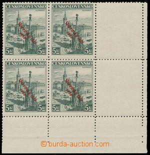 113122 - 1939 Alb.21, Olomouc 5Kč, dolní rohový 4-blok se 2 kupóny vp