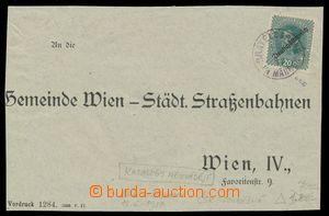 113130 - 1919 přední strana úředního dopisu adresovaného do Vídně, vy