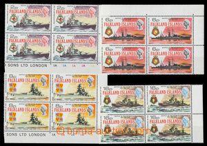113150 - 1974 Mi. 232-235, Válečné lodě, kompletní série, rohové a kr