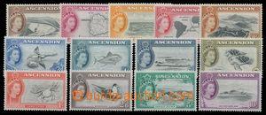 113164 - 1956 Mi.62-74, Alžběta II. + motivy, kompletní série, svěží,
