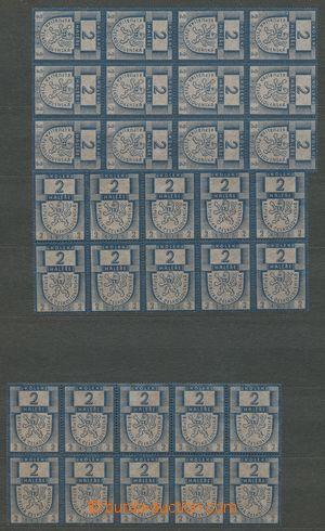 113217 - 1938 ČSR I.  sestava kolkových známek 2h, 12-blok, 10-blok 2