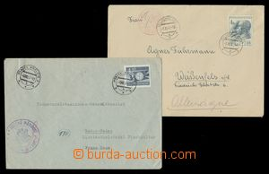 113219 - 1947 comp. 2 pcs of letters Us censorship, both sent to Germ