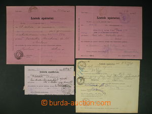 113221 - 1897-1223 comp. 4 pcs of reply forms, 3 various patterns, va