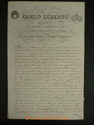 113225 - 1839 KAREL ALBERT (1798–1849), král Sardínie, sestava 4ks li