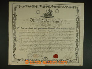113241 - 1829 MISTROVSKÝ LIST / ŽIDLOCHOVICE  zdobený mistrovský list
