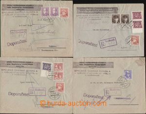 113353 - 1945 comp. 4 pcs of heavier commercial R letters sent in the