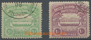 113366 - 1907 Mi.5, 7, Veslice 5P a 1Sh, kat. 170€, kzy