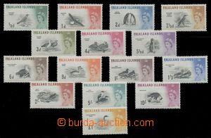 113523 - 1960 Mi.123-137, Ptáci a Alžběta II., kat. 220€
