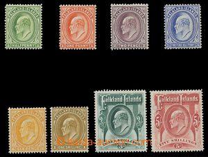 113712 - 1904 Mi.17-24, Edvard VII., kat.* 600€