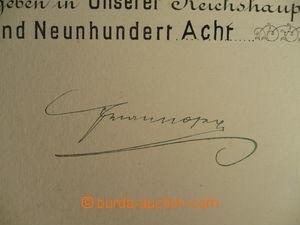 113919 - 1908 FRANTIŠEK JOSEF I. (1830–1916), rakousko-uherský císař,