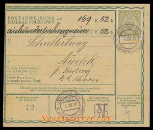 113997 - 1918 peněžní poukázka, německo - polská mutace, vyfr. zn. Mi