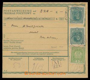 113998 - 1918 peněžní poukázka, německo - polská mutace, vyfr. zn. Mi