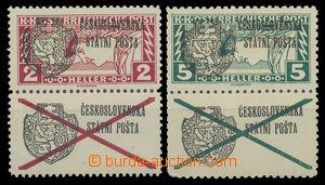 114156 - 1918 Pof.RV41-42Ks, Pražský přetisk II na známkách Spěšná 2h