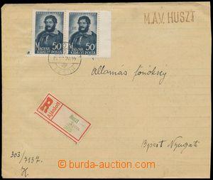 114366 - 1944 PODKARPATSKÁ RUS  služební R-dopis zaslaný ze zabraného
