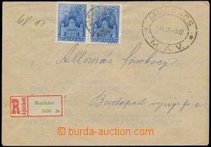 114368 - 1944 PODKARPATSKÁ RUS  služební R-dopis zaslaný ze zabraného