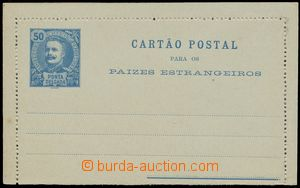 114845 - 1897 PONTA DELGADA   Ascher No.4, letter-card 50Rs, King Cha