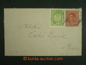 114967 - 1918 CPŘ7, zálepka Karel 15H, dofrank. zn. 5H Koruna, DR VLP