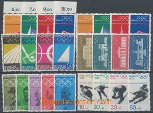 114971 - 1968-72 comp. of 6 complete sets with motive of SPORT, conta