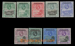 115631 - 1922 Mi.1-9, Přetisk. kat. SG £300