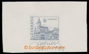 115822 - 1993 ZT  výplatní známka Ružomberok 5Sk, zkusmý tisk na výst