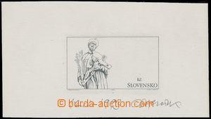 115823 - 1993 ZT  známka Jan Nepomucký 8Sk, zkusmý tisk na výstřižku