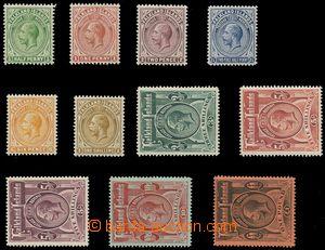 116208 - 1912-20 Mi.25-35 (SG.60-69), Jiří V., kat. SG £850