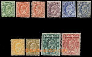 116445 - 1904-12 Mi.17-24 (SG.43-50, 44d, 46b), Edvard VII., série 10
