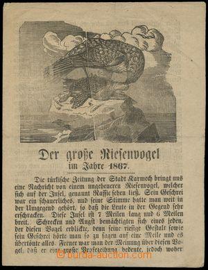 116515 - 1867 zpráva o obludném obřím ptáku z ostrova Rassic, 4 strán