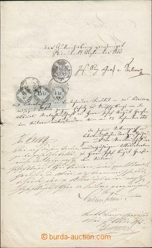 116541 - 1855-65 HABSBURSKÁ MONARCHIE  kupní smlouva z roku 1855, zno