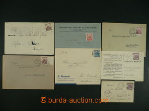 117127 - 1939-42 comp. 7 pcs of entires franked/paid jedinou postage