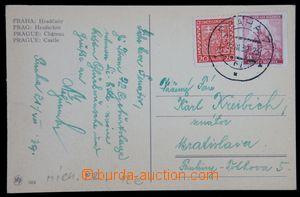 119932 - 1939 pohlednice do Bratislavy vyfr. zn. Pof.250 a Pof.31, sm