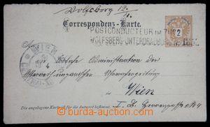 119960 - 1890 VLP POSTCONDUCTEUR IM ZUGE / WOLFSBERG–UNTERDRAUBURG No